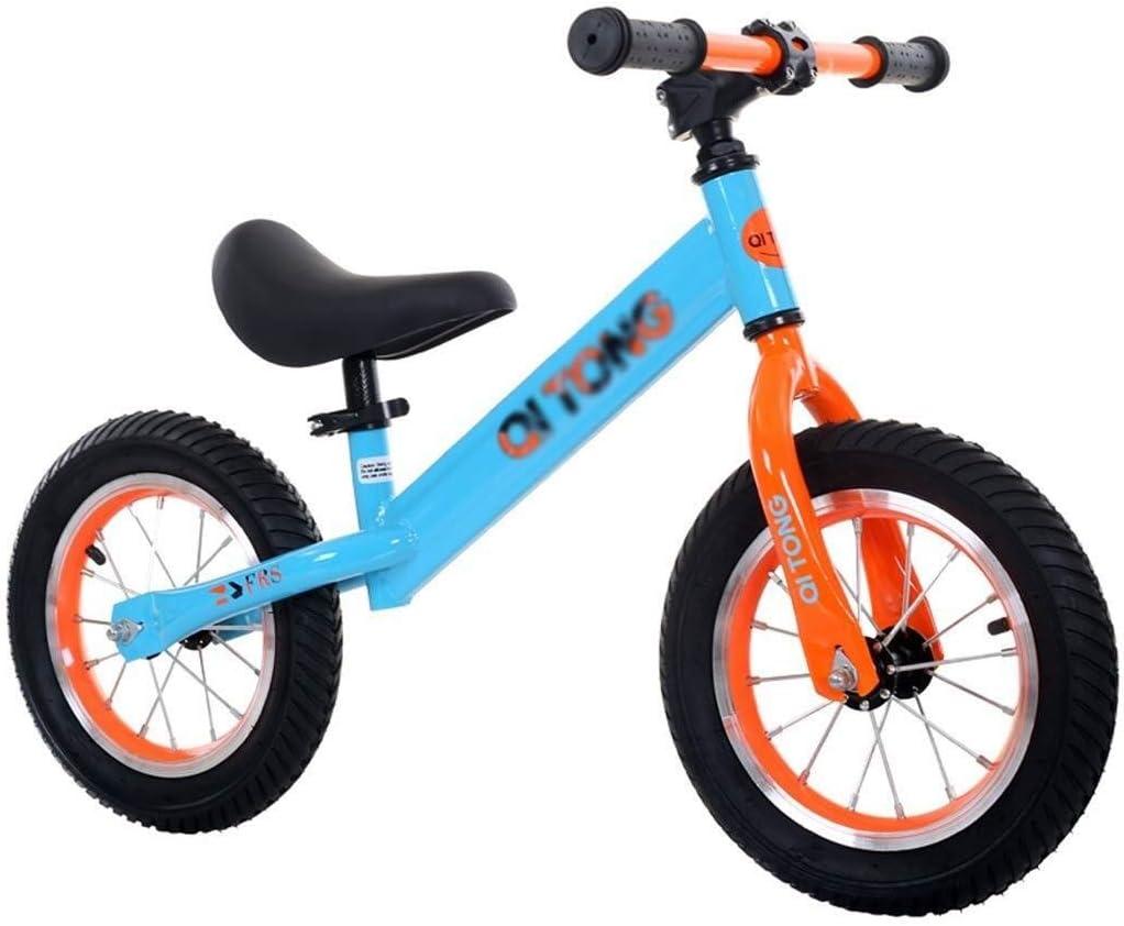 KXBYMX Bicicletas de Equilibrio para niños Bici del Balance del niño Bici del Entrenamiento del Funcionamiento de la Muchacha del Metal del Metal Bicicleta de Equilibrio Infantil (Color : Yellow): Amazon.es: Hogar