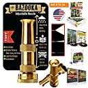 OutbackTUFF® BRASS Hose Nozzle Sprayer ~ Rugged, Tough & Powerful ~ Garden / Auto / Deck