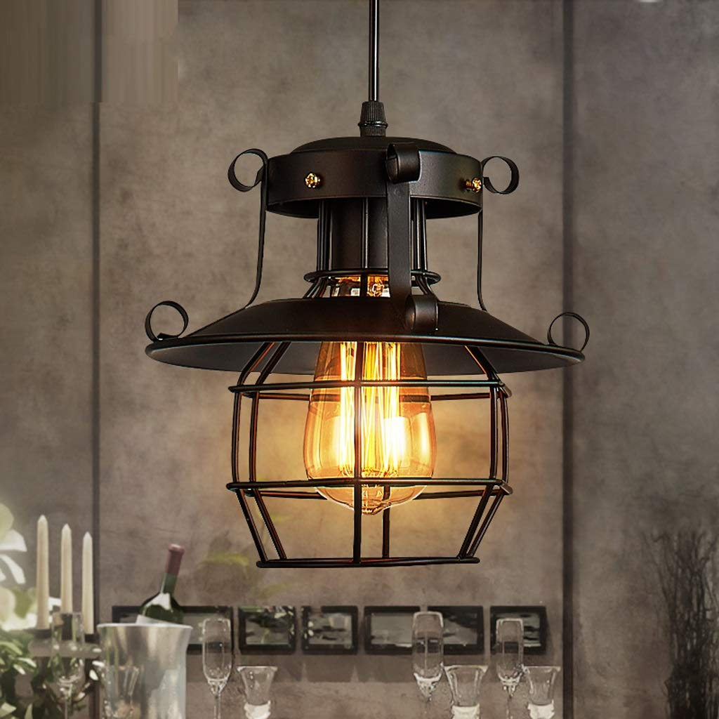 Kronleuchter Decke Lightt Iron - D8563 Industriellen Stil Retro Persönlichkeit Kreative Bar Restaurant Einzelne Kopf Cafe Lichter