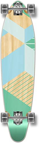 Yocaher Geometric Series Longboard Complete Cruiser and Decks Available for All Shapes Complete-Kicktail-Green