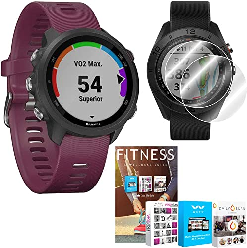 Garmin Forerunner 245 GPS Sport Watch Berry with Home Fitness Suite Bundle
