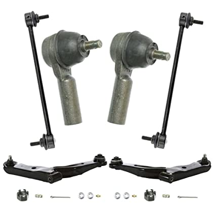 Prime Choice Auto Parts SUSPPK0212 Set of Front Complete Strut Sway Bar Link Kit /& Outer Tie Rod End