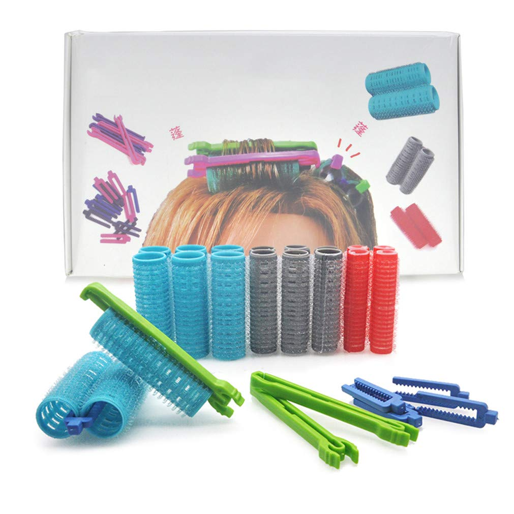 3 Sizes Hook Loop Rollers 2 Types Clips Morgan Hair Root Perm Rods Bars Link Fluffy Air Bang Curlers Clamps Set 1348