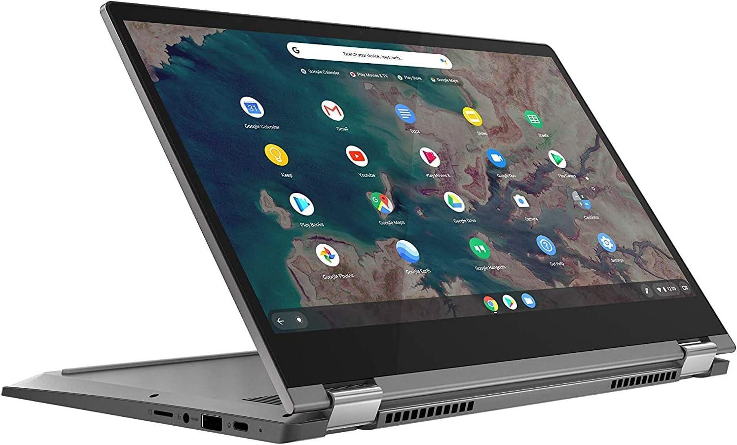 """2020 New Lenovo Chromebook Flex 5 13"""" Laptop, FHD (1920 x 1080) Touch Display, Intel Core i3-10110U Processor, 4GB DDR4 RAM, 64GB SSD + 32GB Oydisen SD Card, Backlit Keyborad, Webcam, WiFi, Chrome OS"""