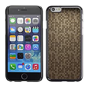 KOKO CASE / Apple Iphone 6 / wallpaper spots dots brown random pattern / Slim Black Plastic Case Cover Shell Armor