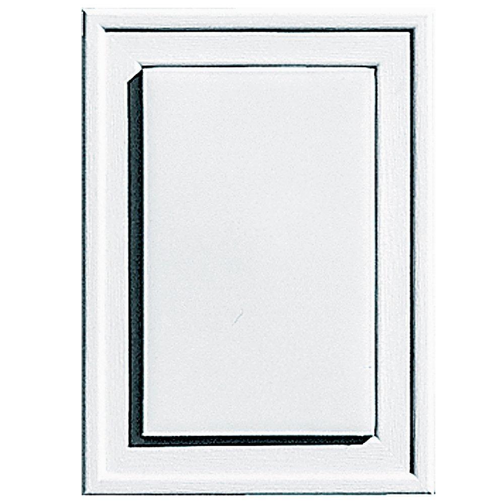 Builders Edge 130130001001 Raised Mini Mounting Block 001, White
