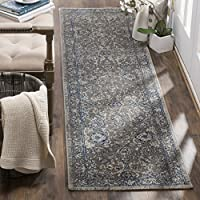 Safavieh Artisan Collection ATN316A Vintage Oriental Dark Grey and Blue Distressed  Runner (22 x 8)