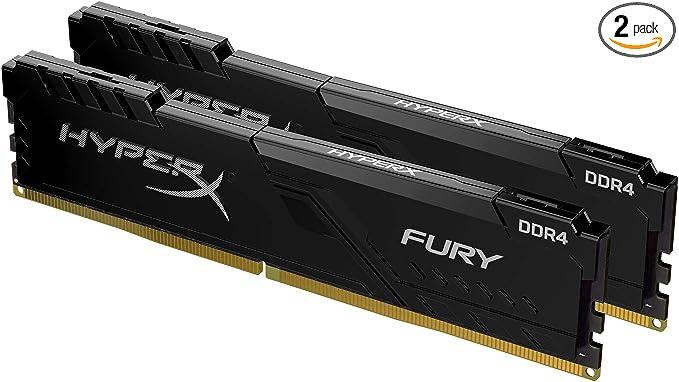 Amazon.com: HyperX Fury 16GB 3200MHz DDR4 CL15 DIMM (Kit of 2) 1Rx8 Black XMP Desktop Memory HX432C16FB3K2/16: Computers & Accessories