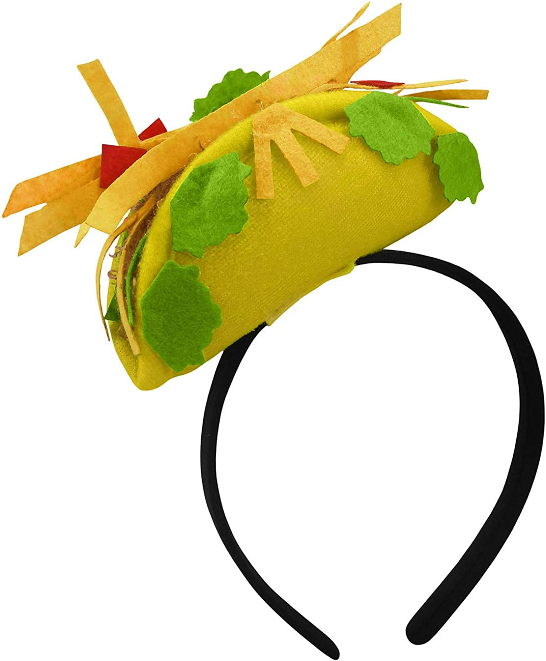 Unisex Plush Mini Food on Headband Hot Dog Hamburger Taco Vendor Party Supplies