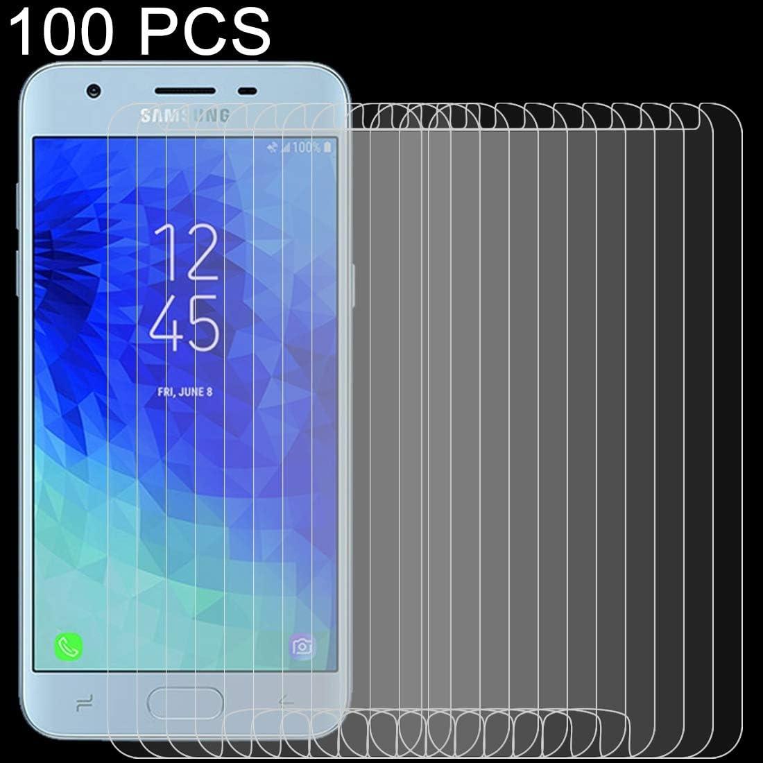 Anti-Scratch Screen Protector 2018 Premium Tempered Glass Screen Film 100PCS 9H 2.5D Tempered Glass Film for Galaxy J3