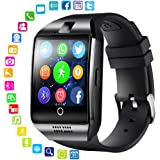 Q18 Smart Watch, lesgos Waterproof Touch Screen Intelligent Wristwatch with SIM Card Slot/Camera/Pedometer/Sleep Monitor/Sedentary Remind Functions for Android, IOS