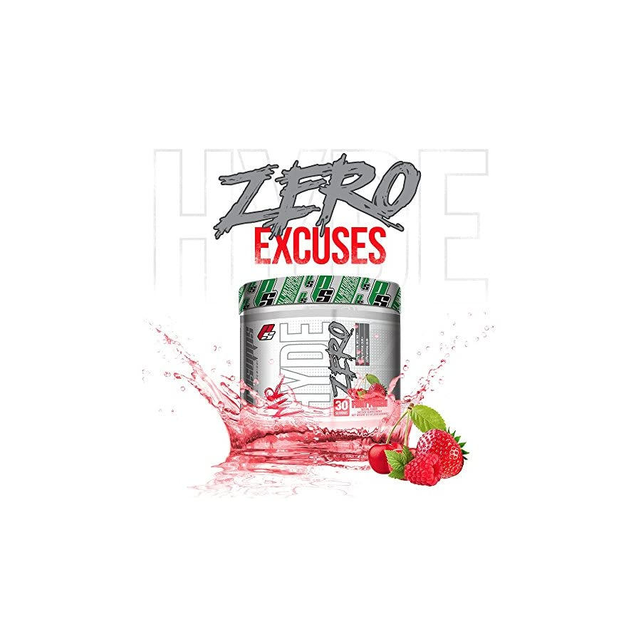Pro Supps Mr. Hyde ZERO Pre Workout Powder (Fruit Punch Flavor), 30 True Servings, Pure Pre Workout. ZERO Sweeteners, Artificial Colors, Flavors or Sugars