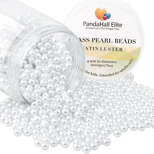 7 opinioni per PandaHall Elite 1000PCS Perline Vetro Perlaceo Rotonde Perline Perla Tinte 4mm