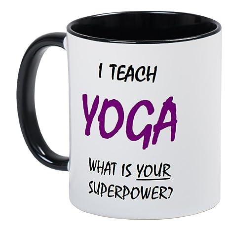 CafePress enseñar - Yoga - Único taza de café, taza de café ...