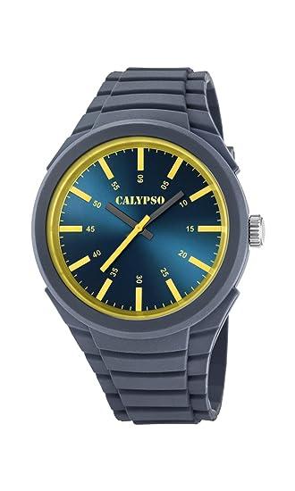 Calypso Reloj Análogo clásico para Hombre de Cuarzo con Correa en Plástico K5725/4: Calypso: Amazon.es: Relojes