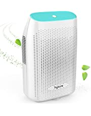 Dehumidifier, hysure 500ml Portable and Mini Air Dehumidifier Compact Dehumidifier for Small Rooms Bathroom, Bedroom, Wardrobe Room, Closet, Crawl Space, RV - White …