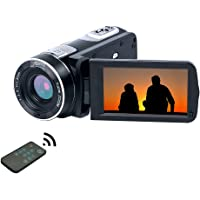Videocamera full HD 1080p 24.0 MP 18 x Zoom digitale con telecomando videocamera digitale Night Vision