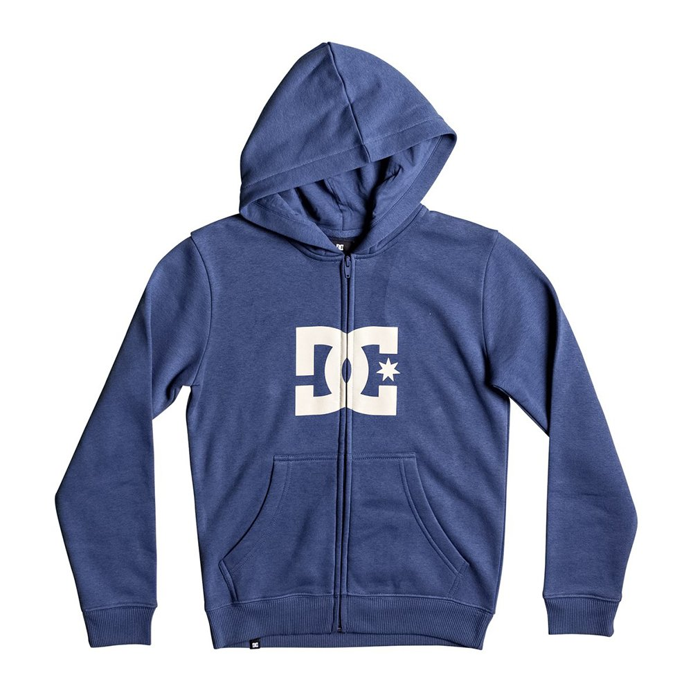 DC Big Boys' Star Zh Hoody Zip Sweatshirts, 14/Large,Washed Indigo