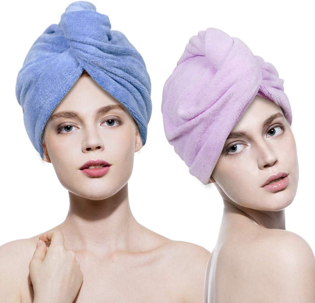 Wrap Quick Turban Magic Shower Dry Drying Hat Cap Microfiber Bathing Towel Hair
