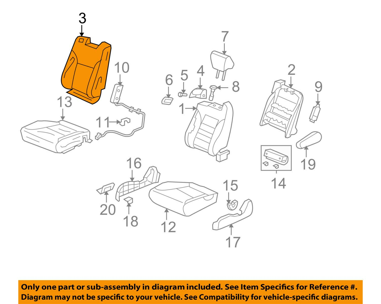Honda Genuine 04811-SCV-L01ZD Seat Trim Cover Set Right Front