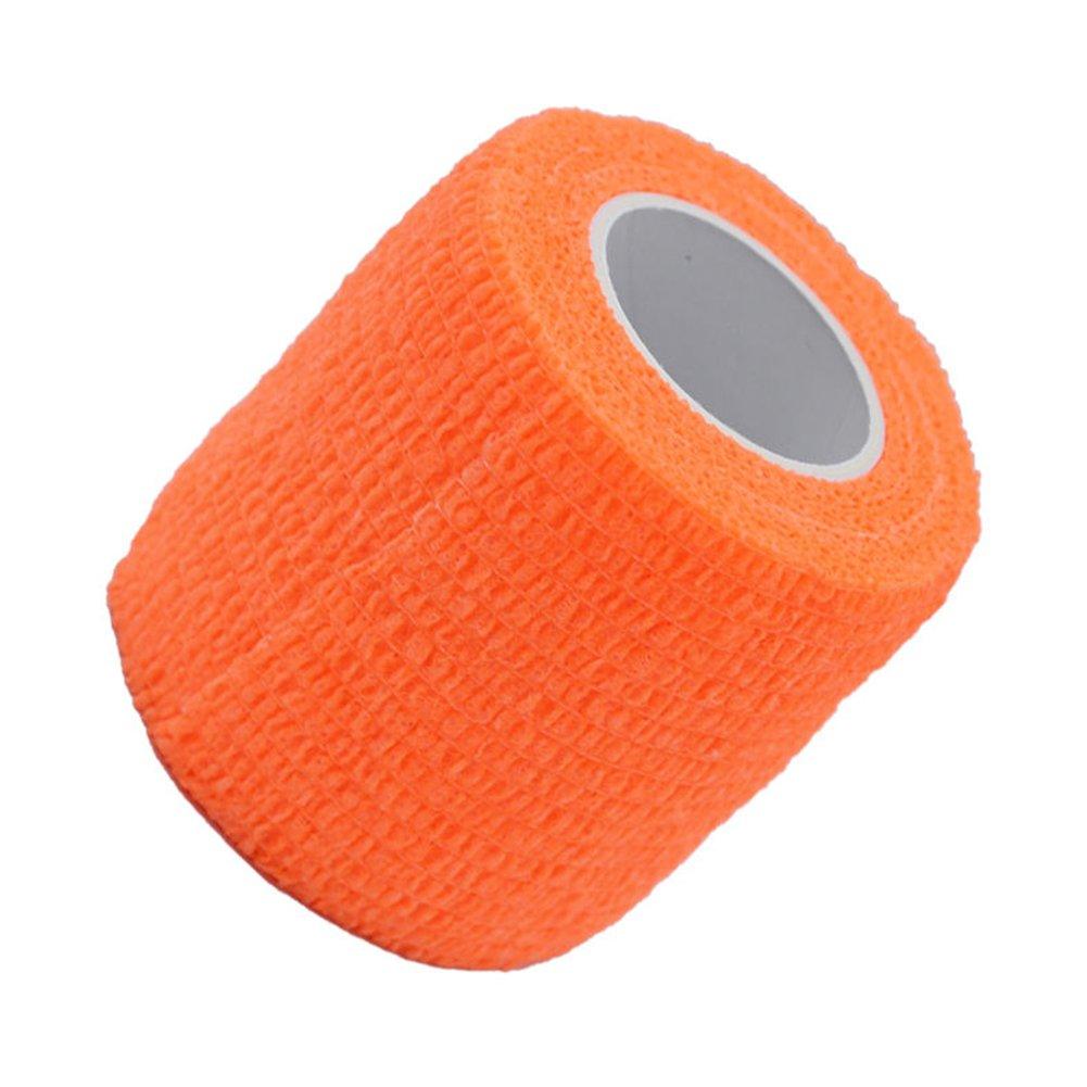 self-adherent garza elastica, 5*450cm benda elastica tessuti non tessuti Tattoo–Trattamento primo soccorso Pet Vet Wrap self Adherent Cohesive Bandages, Nero Behavetw