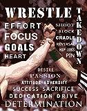 Wrestling Motivational Poster Art Print 11x14 Kids Shoes Head Gear Singlet