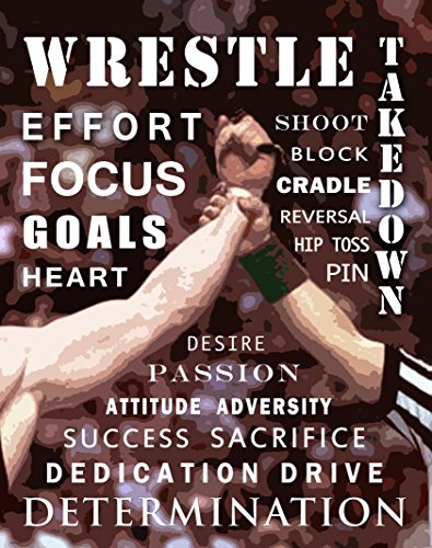 Wrestling Motivational Poster Art Print 11x14 Kids Shoes Head Gear Singlet (Art Singlet)