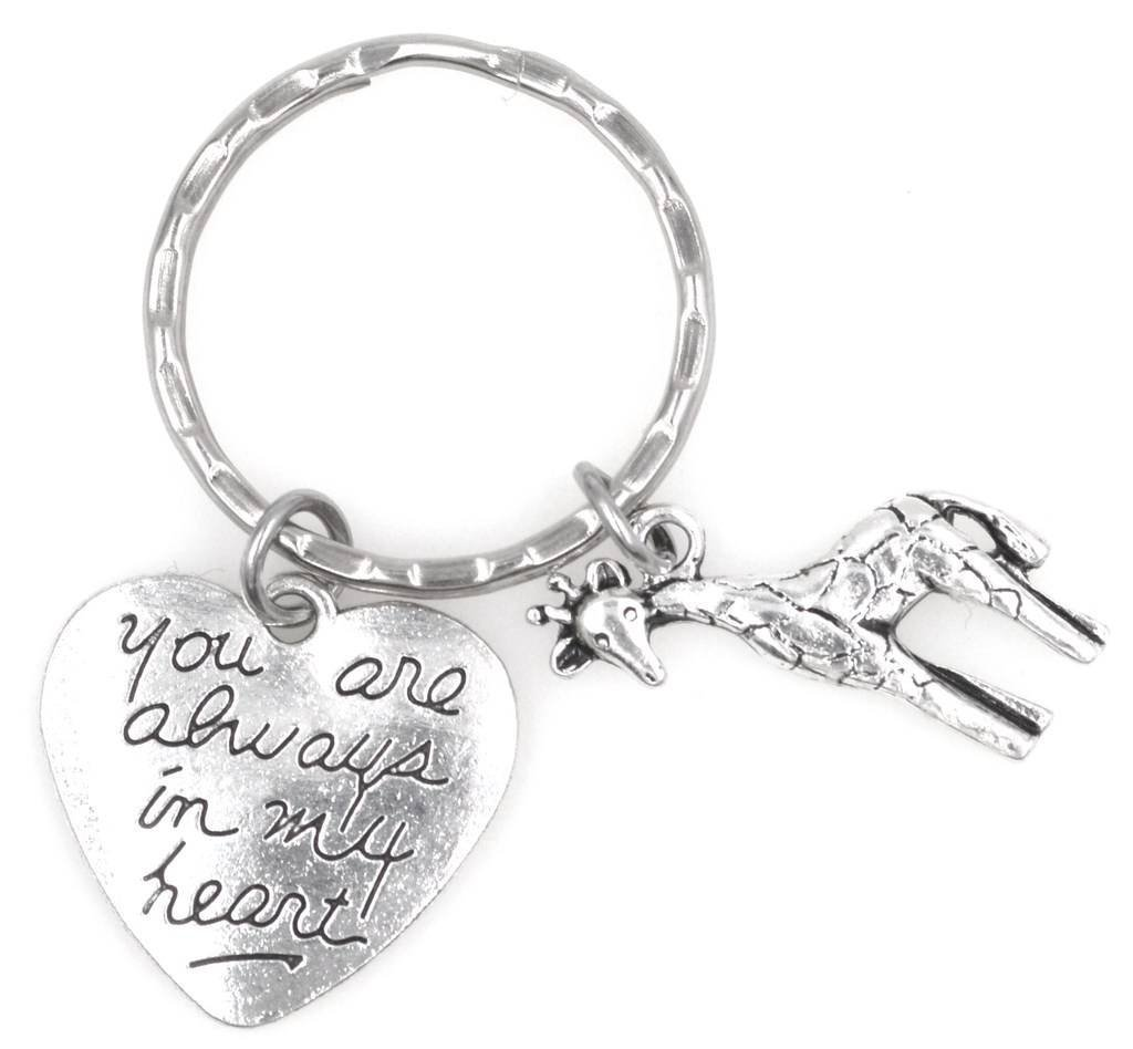 You Are Always in My Heart Giraffe Keychain 110G