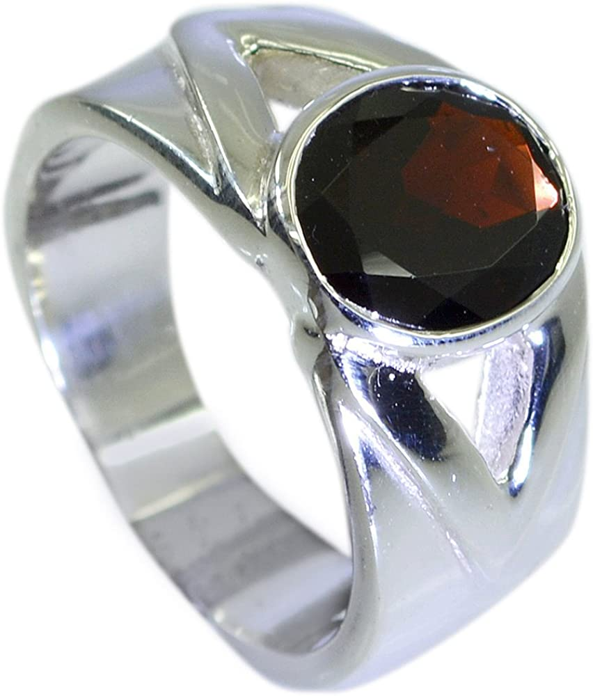 CaratYogi Gorgeous Original Garnet Wedding Ring Silver Round Shape Cluster Style Size 5 6 7 8 9 10 11 12