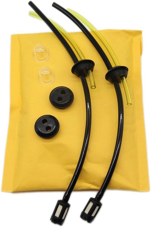 SWNKDG 2ps Universal Kit de filtros de gasolina Tubo Sello para cepillo cortador cortadora cortacésped cepillo cortador Tijeras de