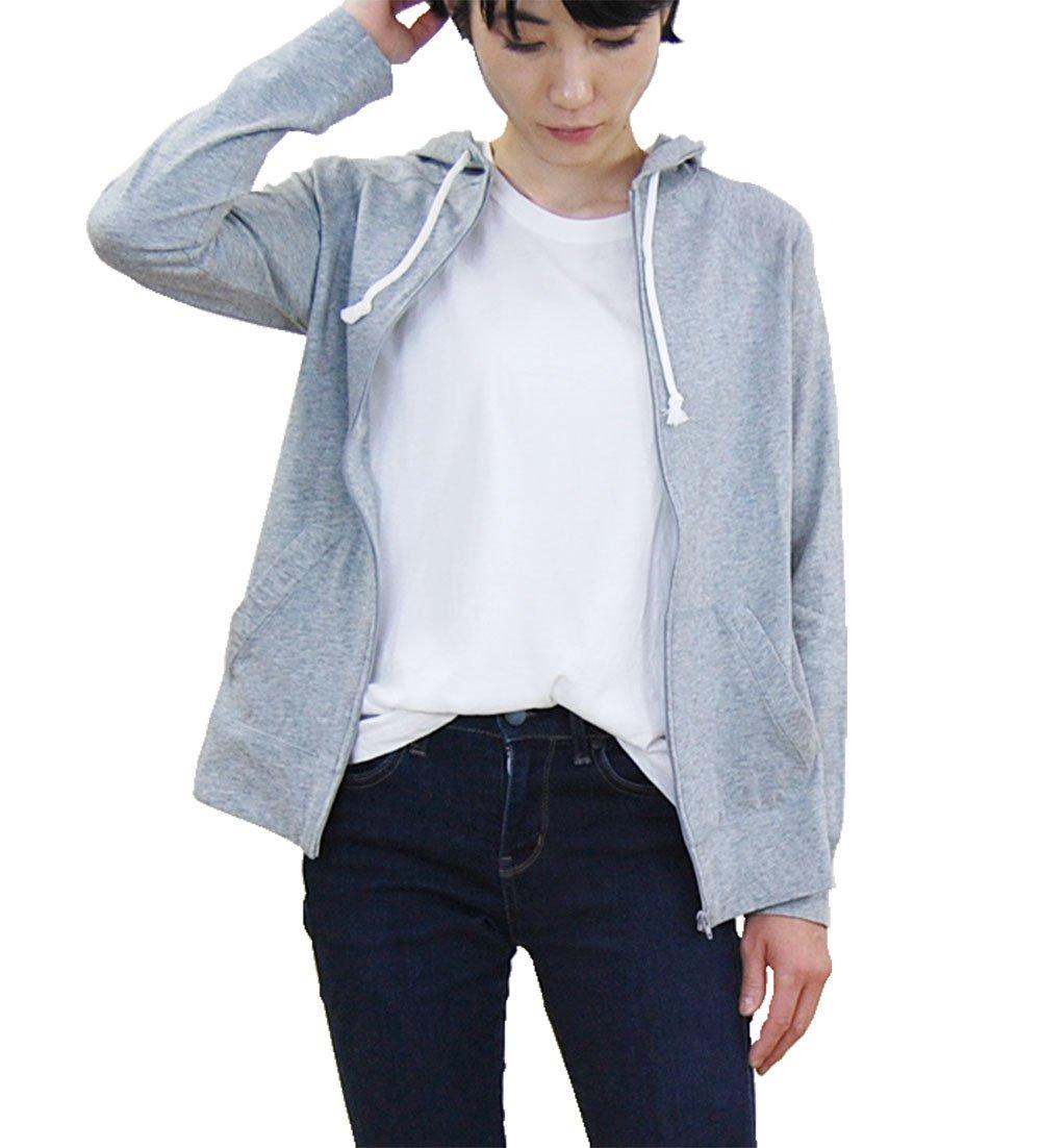 harmonie -Organic Cotton- (アルモニ オーガニックコットン) ふんわり天竺 ZIP UP パーカー【レディース】【フリーサイズ】 B07FCJ5M5B Free|top gray top gray Free