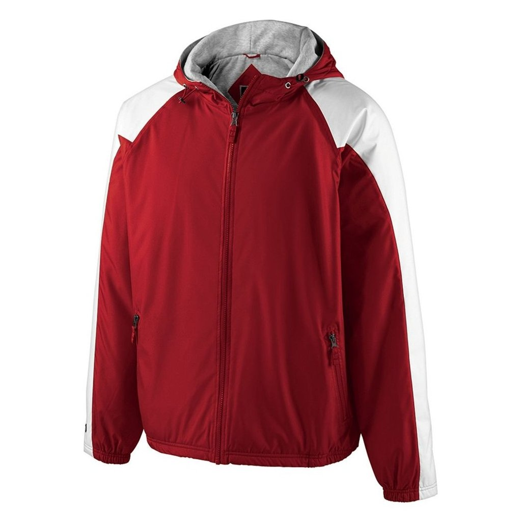 Holloway Youth Homefield Shell Jacket (Small, Scarlet/White) by Holloway