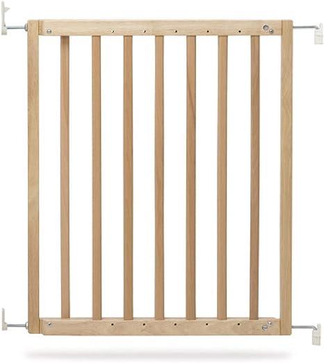 Geuther 2710 NA 2710 - Barrera de seguridad para puertas y escaleras (madera, para atornillar, sin barreras, para aberturas de 63, 5-105, 5 cm, 3.81 kg), color marrón: Amazon.es: Bebé