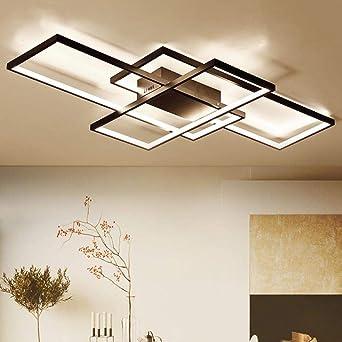 Nueva Llegada Negro/Blanco LED Lámpara de Techo Para Vivir ...