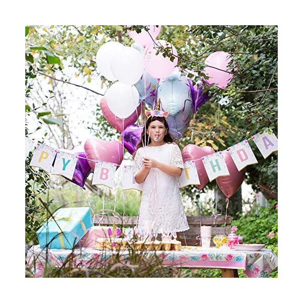 Unicorn Party Supplies set - 238 PCS - 18 Serves | Unicorn Decoration | Tableware | Favors | Balloons | Free Bonus 8