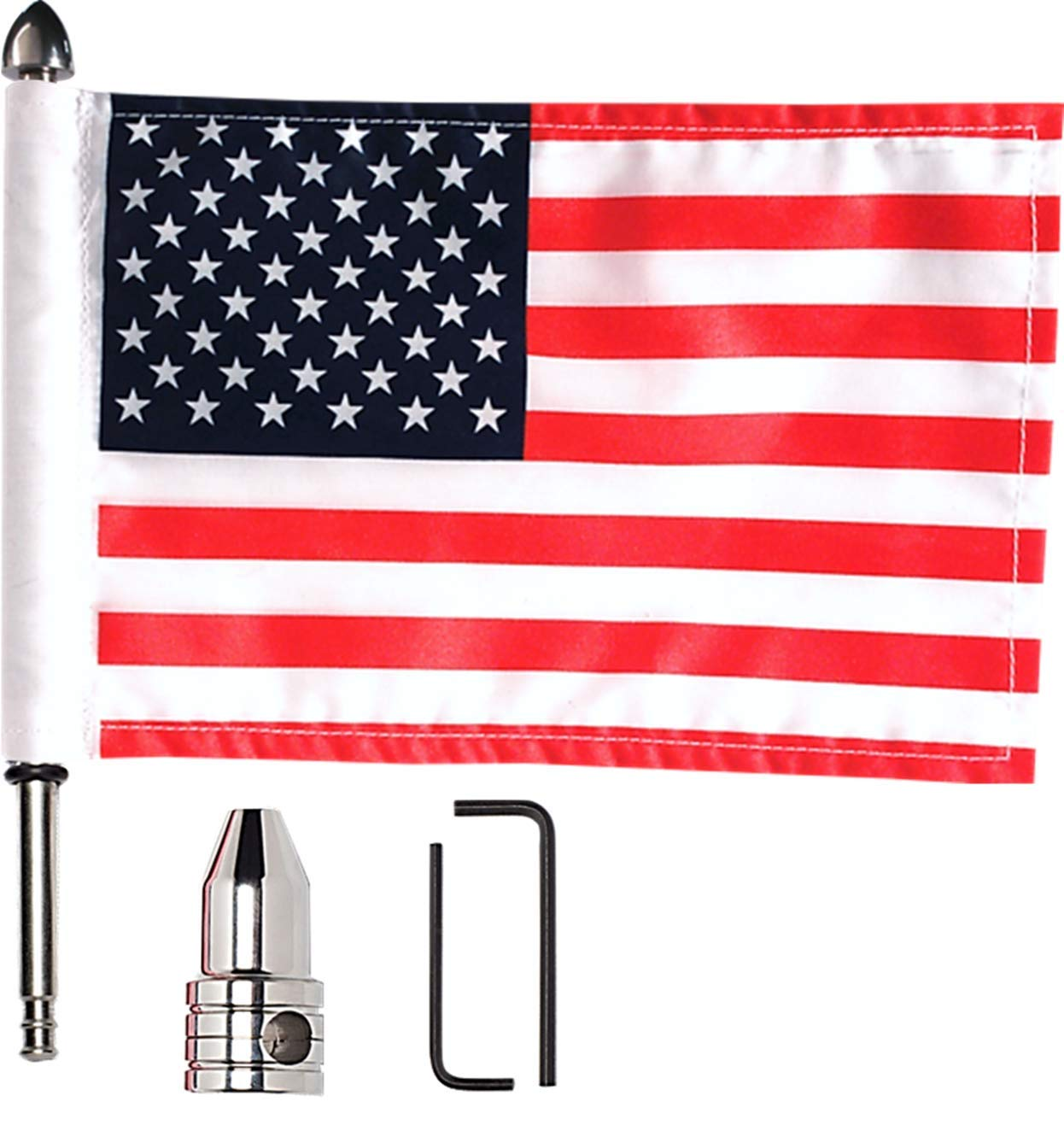 Luggage Rack Vertical Pole Usa Flag For Harley Electra Touring Street Road Glide Less Expensive Side Mirrors & Accessories