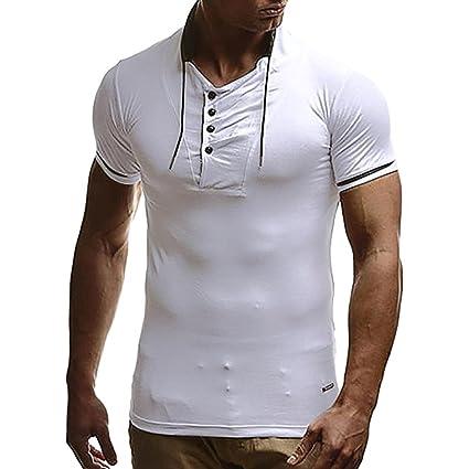 Camisas hombre , Amlaiworld Camisa Hombre de Manga corta Personalidad Slim Fit Casual blusa ropa deportivas