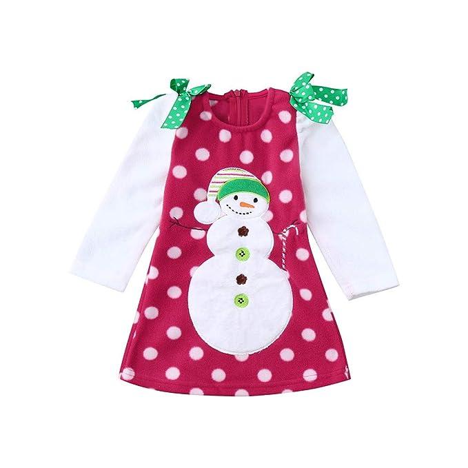 POLP Niño Conjunto Bebe niña Invierno Ropa Bebe niña Invierno Pijama Bebe Navidad Regalo Bebé Camisa
