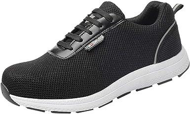 Btruely Zapatos de Seguridad Zapatos Malla Transpirable Zapatos de Trabajo Zapatos de Seguridad Anti-Rotura y pinchazos Zapatos Running Hombre Zapatillas de Alpinismo: Amazon.es: Ropa y accesorios