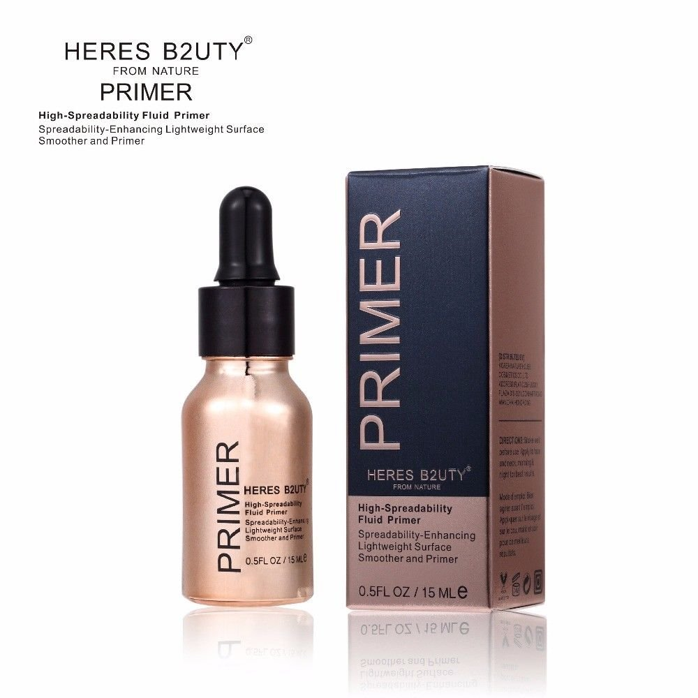 HERES B2UTY Blurring illuminating Fluid Gel Primer Even Skintone Blurs Pores Fine Lines Long-Lasting Smoothed Brighten Highlight