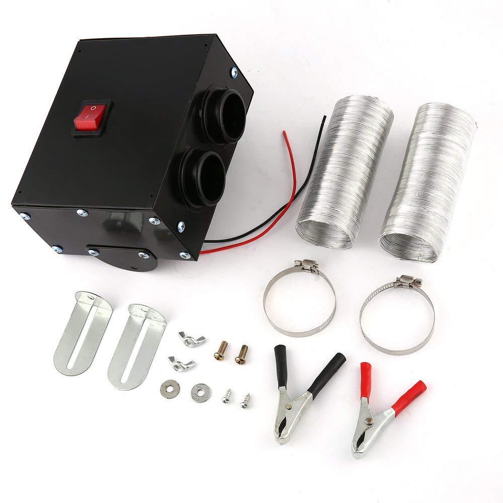 FDBF 12V 300W Car Warmer Dual Hole Heating Fan Window Defroster Demister