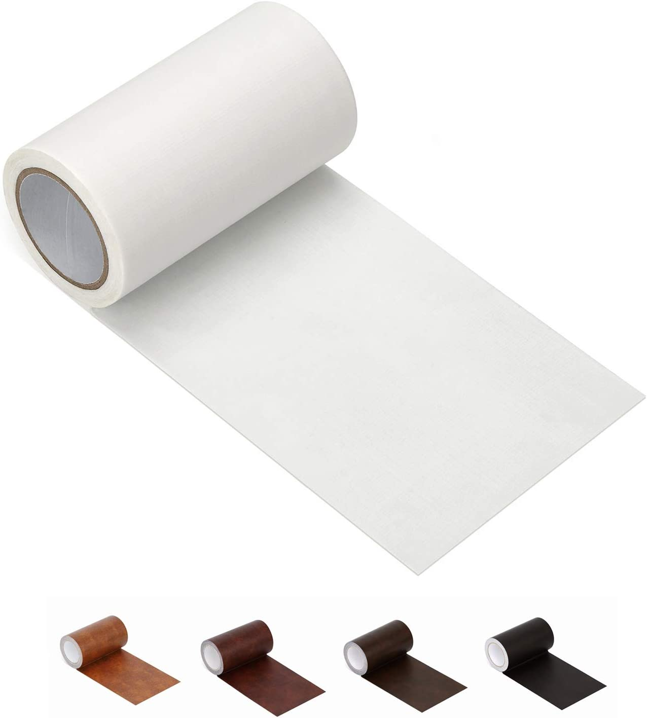 """Leather Repair Tape Patch Leather Adhesive for Sofas, Car Seats, Handbags, Jackets,First Aid Patch 2.4""""X15' (White)"""