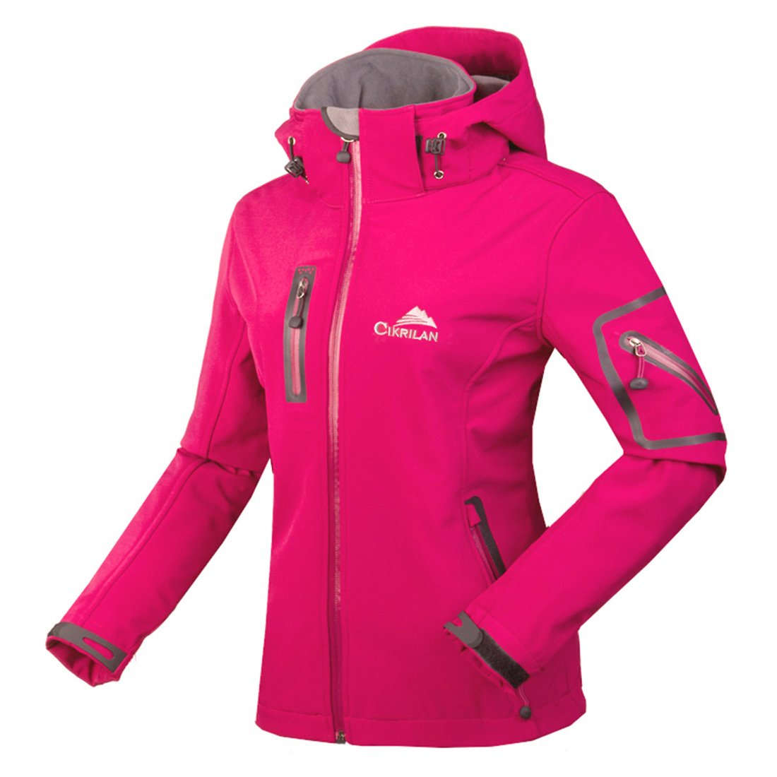 CIKRILAN Women's Soft Shell Windproof Outdoor Fleece Lined Jacket Ladies Coat topway CKL1200