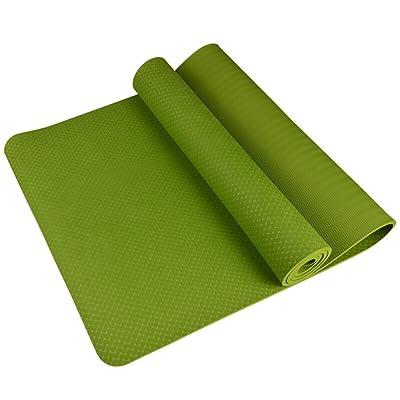 HJHY® Tapis de yoga, tapis de fitness débutant Thicken Widen Tapis de yoga antidérapant insipide Bonne élasticité