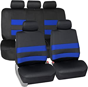 FH Group FB087BLUE115 Premium Neoprene Seat Cover (Water Resistant/Airbag/Split Bench Compatible) Cushion