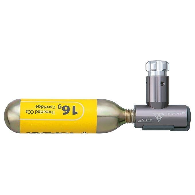16g Kartusche Silikonschutzhülle Topeak Airbooster CO2 Kartuschen Pumpe inkl