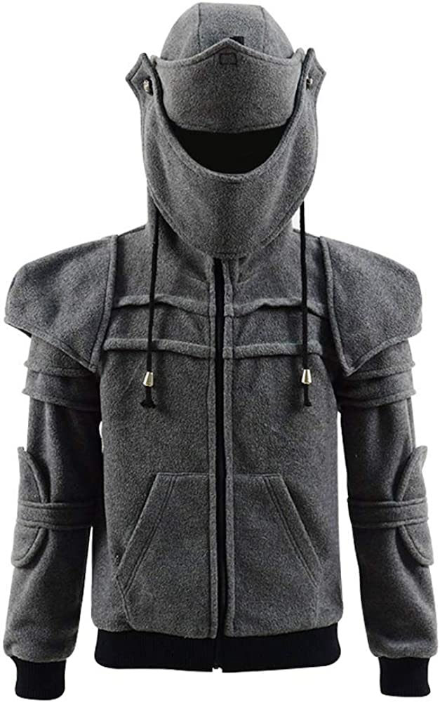 Kids Boys Armored Hoodie Medieval Jacket Arthur Knight Cosplay Sweatshirt