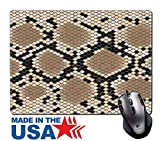 "MSD Natural Rubber Mouse Pad/Mat with Stitched Edges 9.8"" x 7.9"" Snake skin with the pattern lozenge form 2309122 Customized Desktop Laptop Gaming Mouse Pad"