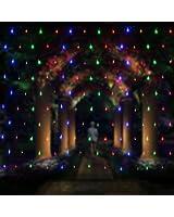 2M x 3M 200 LEDs Guirlande Lumineuses Filet ,Rideau de Lumière Féeriques Eclairage Décoration Bonne Luminosité et Faible Puissance avec 8 Modes de Fonctionnement pour Mariage Noël Party