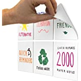 M.C. Squares Stickies 4x4 Dry-Erase Sticky Notes 6-Pack, 5-Year Reusable White Board Stickers with Included Smudge-Free Wet E
